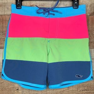 Vineyard Vines   Boys Tri-Color Swim-shorts Med